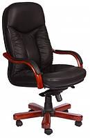 Кожаное кресло Буффало НВ кожа люкс чёрная