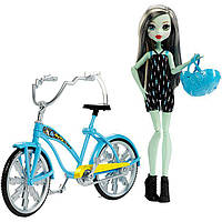 Кукла Франки Штейн на велосипеде (Monster High Boltin' Bicycle Frankie Stein Doll & Vehicle)