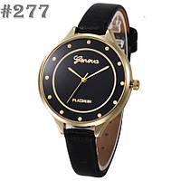 Женские часы черного цвета Geneva (277)