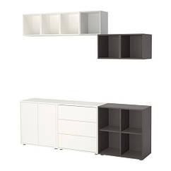 Сочетание шкафов с ногами, белый, темно-серый, 210x35x180 см IKEA EKET 191.910.28