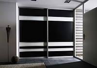 Шкаф-купе черный+белый глянец