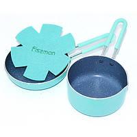 Набор посуды Fissman Petit Ковшик 12*6 см.+сковорода 14*3,5 см бирюзовый