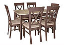 Стіл Лекс латте 120(+40)*80 обідній розкладний дерев'яний, фото 9