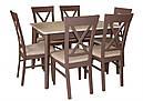 Стол Лекс венге120(+40)*80 обеденный раскладной деревянный, фото 7