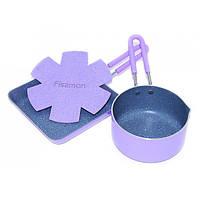 Набор посуды Fissman Petit Ковшик 12*6 см.+сковорода 14*3,5 см фиолетовый