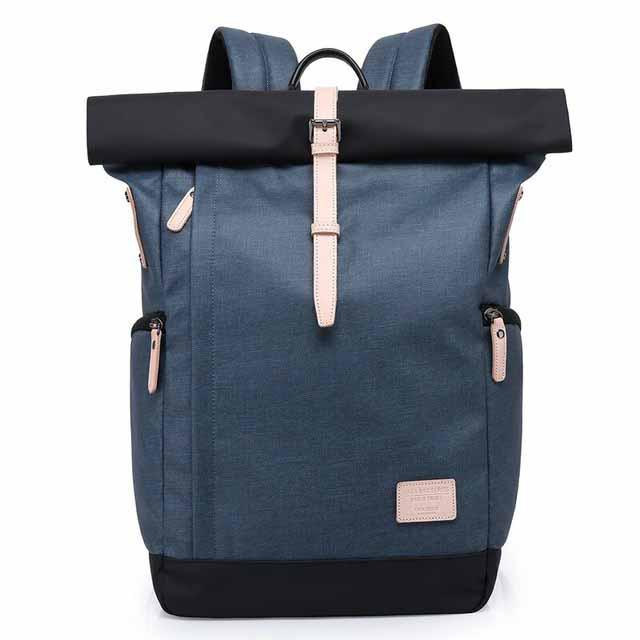 Рюкзак для ноутбука с водоотталкивающим покрытием синий