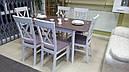 Стіл Лекс латте 120(+40)*80 обідній розкладний дерев'яний, фото 7