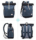 Рюкзак для ноутбука с водоотталкивающим покрытием синий, фото 2