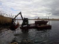 Плавучий  мини экскаватор