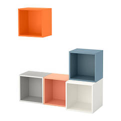Сочетание настенных шкафов, разноцветный, 105x35x120 см IKEA EKET 591.891.08