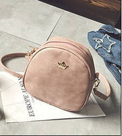 Женская маленькая сумочка на молнии розовая через плечо опт, фото 1
