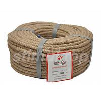 Канат джутовый верёвка 8 мм х 100 м.
