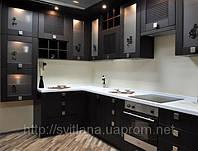 кухня темный дуб фото 11