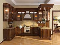 кухни из дерева с витражами фото 16