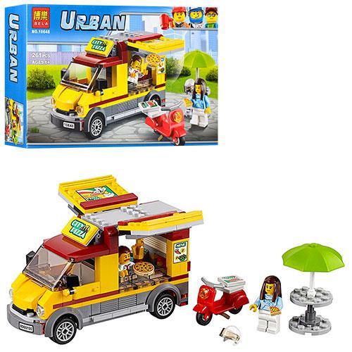 """Конструктор Bela 10648 Urban """"Фургон-піцерія"""" 261 деталей. Аналог LEGO City 60150"""