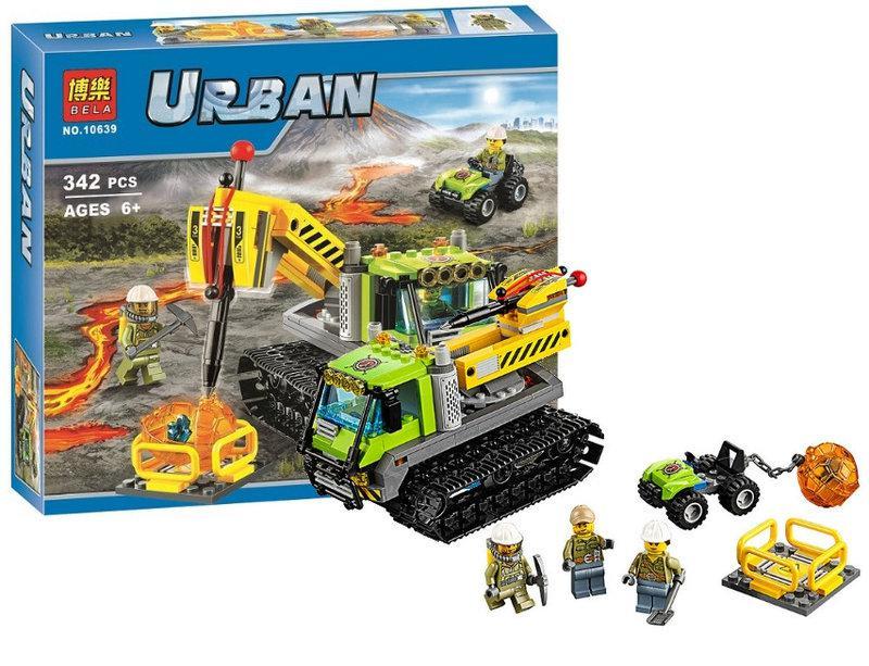 """Конструктор Bela 10639 Urban """"Всюдихід дослідників вулканів"""" 342 деталі."""