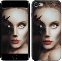 """Чехол Взгляд женщины и кошки """"4041c-336-9602""""Для Apple, Samsung, Nokia, HTC, Sony, Lenovo, Xiaomi, Meizu и др."""