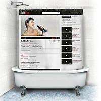 Шторка для ванной YouTube
