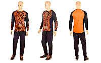 Форма футбольного вратаря юниорская  (PL, р-р S-M, оранжевый-черный), фото 1