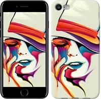 """Чехол Красочная женщина в шляпе """"4011c-336-9602""""Для Apple, Samsung, Nokia, HTC, Sony, Lenovo, Xiaomi, Meizu и др."""