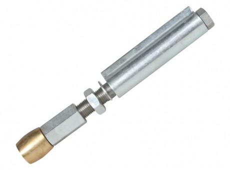 Нижний направляющий ролик  25 мм с петлёй, для систем складывания гармошкой