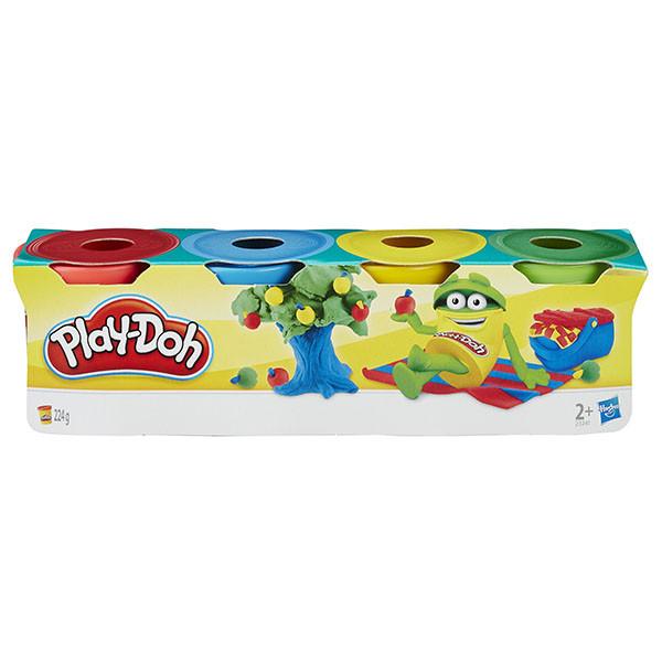 Мини-набор пластилина Play-Doh 4 баночки 224 грамма. Оригинал Hasbro 23241