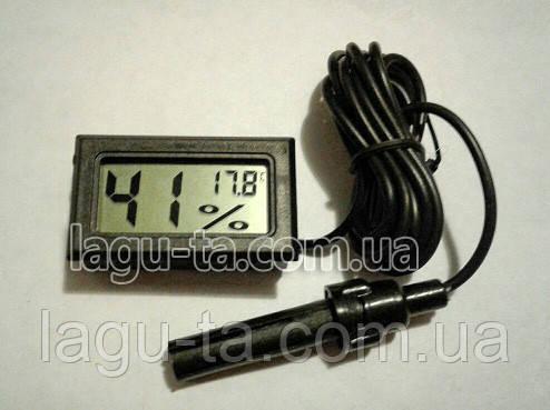 Термогигрометр с выносным датчиком 1 метр.