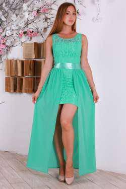 Красивое длинное макси платье с атласным поясом., фото 2