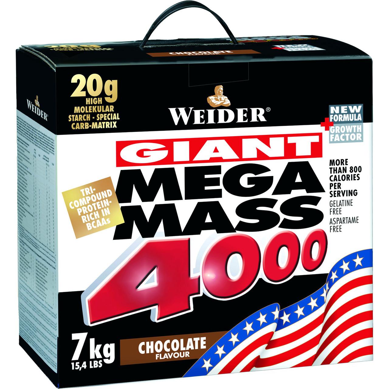 Гейнер Weider Mega Mass 4000 7 kg