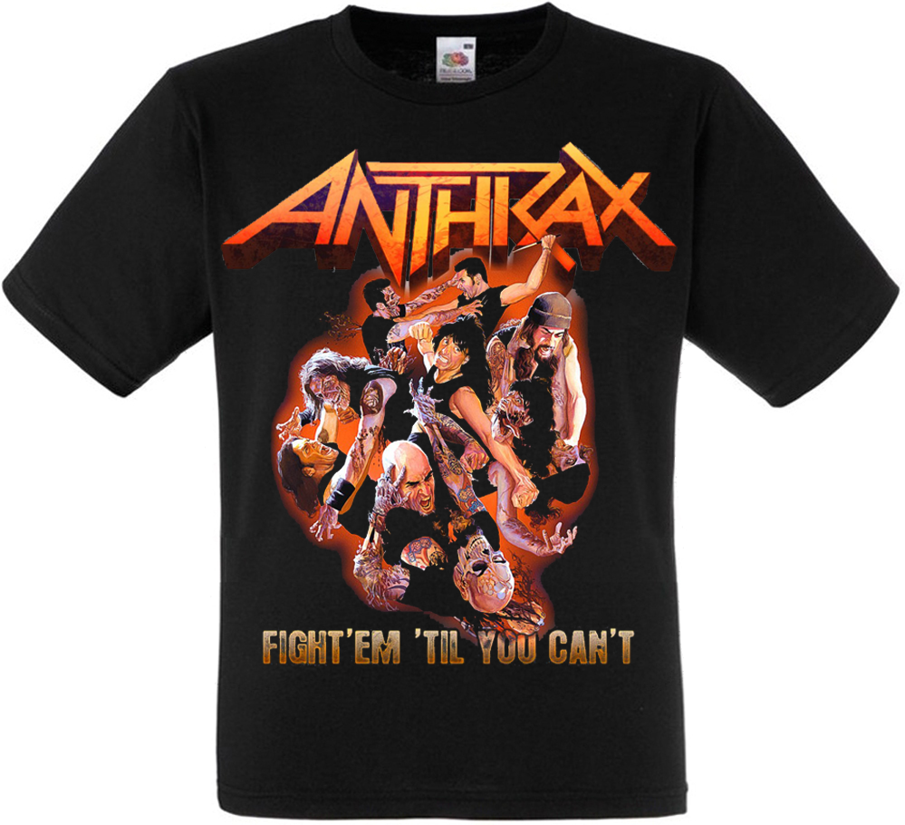 "Футболка Anthrax ""Fight 'Em Til You can't"""