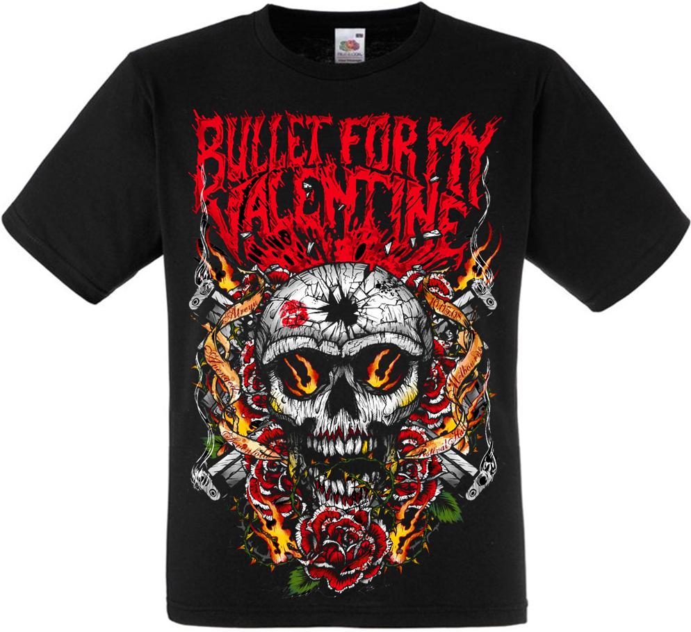"Футболка Bullet For My Valentine ""Skull, Roses And Guns"