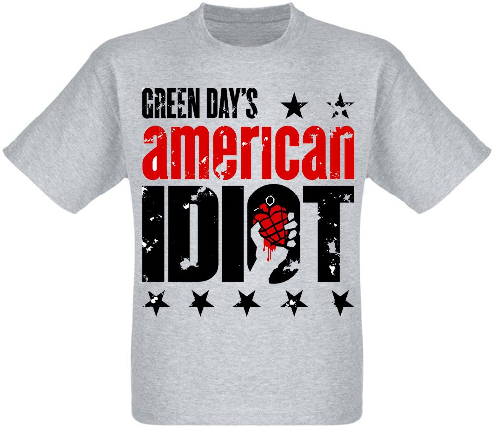 "Футболка Green Day ""American Idiot"" (меланж)"