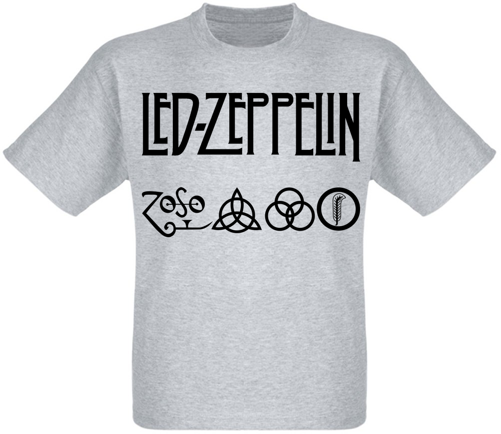 """Футболка Led Zeppelin """"Logo"""" (меланж)"""
