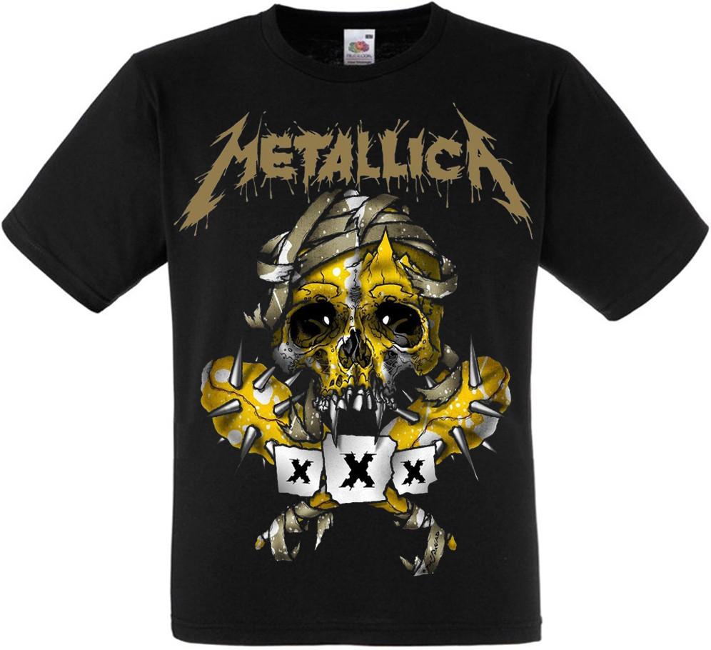 "Футболка Metallica ""Skull"" (yellow)"