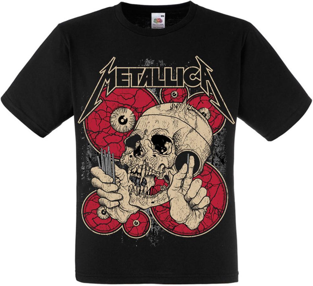 Футболка Metallica (skull and red eyes)
