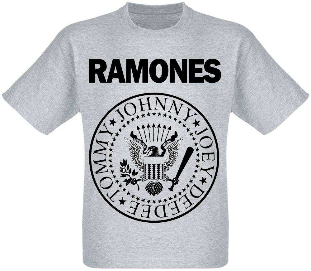 """Футболка Ramones """"Hey! Ho! Let's Go"""" (меланж)"""