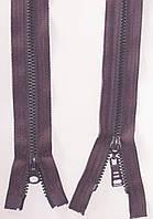 Молния тракторная косой зуб №5 сливовый пластиковая с двумя бегунками 110см