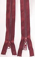 Молния тракторная косой зуб №5 Бордовый пластиковая с двумя бегунками 110см
