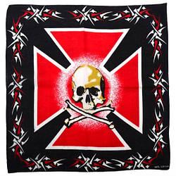 """Бандана """"Мальтійський хрест + череп"""""""