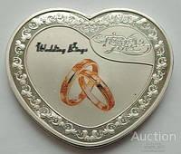 Королева Елизавета II. Wedding Rings. 1 Dollars.