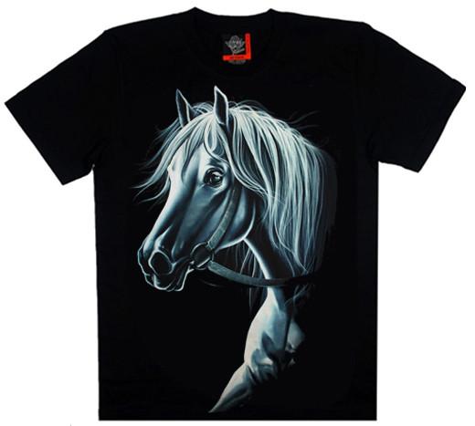 """Футболка """"Кінь"""" (СВІТИТЬСЯ В ТЕМРЯВІ) S"""
