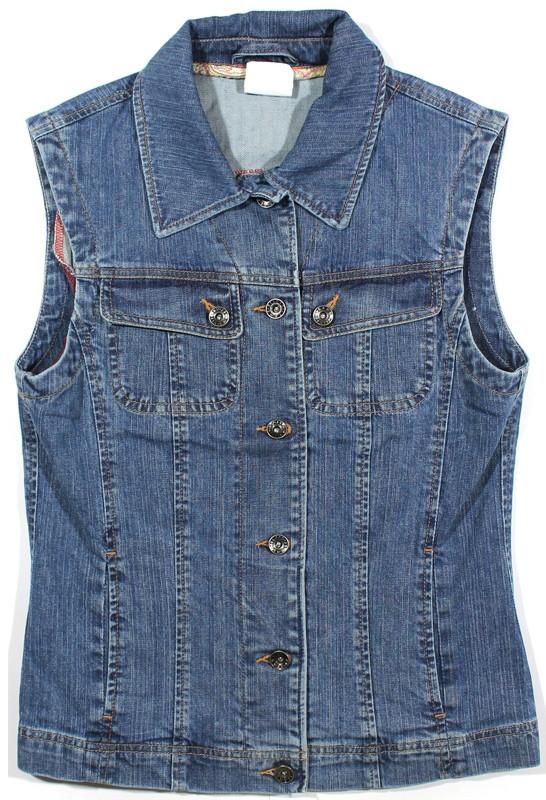 Женская джинсовая жилетка (синяя)
