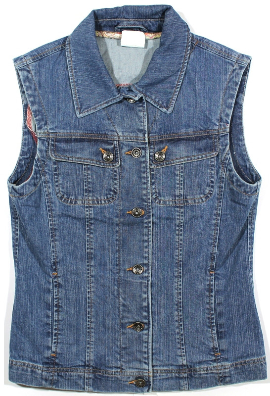 Жіноча джинсова жилетка (синя)
