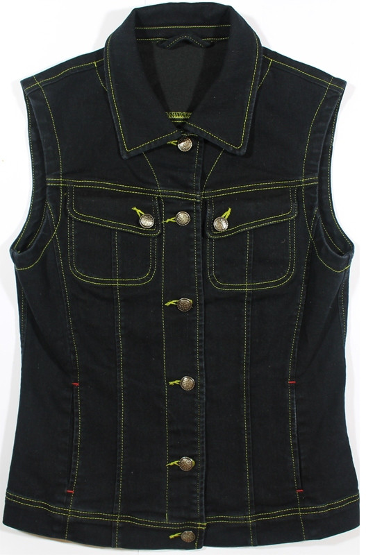Женская джинсовая жилетка (чёрная)