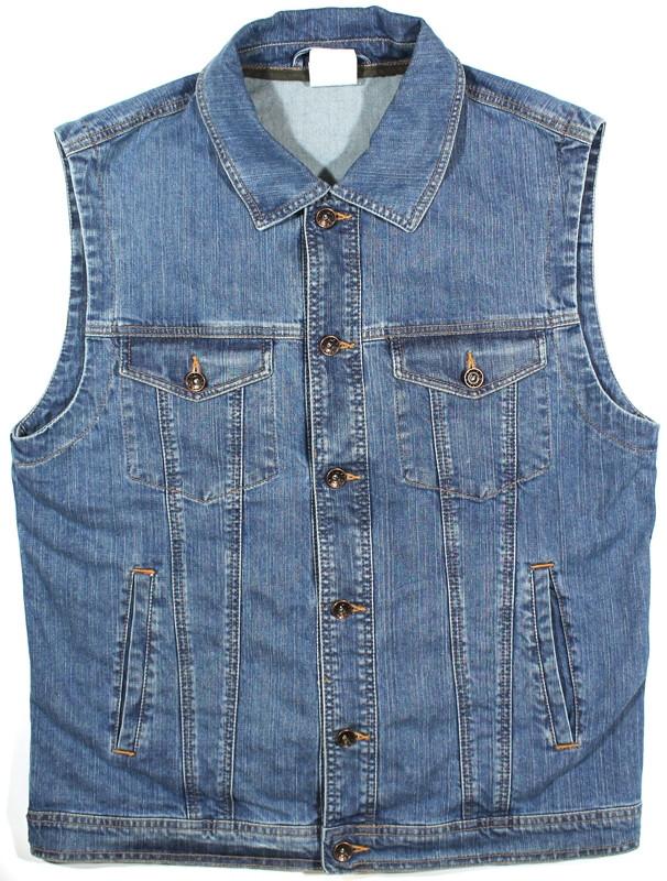 Мужская джинсовая жилетка (синяя)