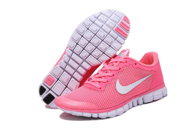 Кроссовки женские Nike Free Run 3.0 v2  розовые, фото 2