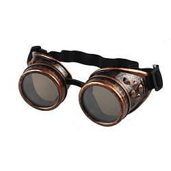 Окуляри в стилі Стімпанк (коричневі гогглы)