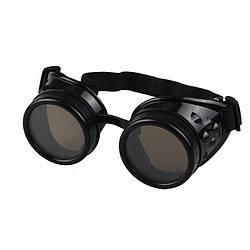 Окуляри в стилі Стімпанк (чорні гогглы)