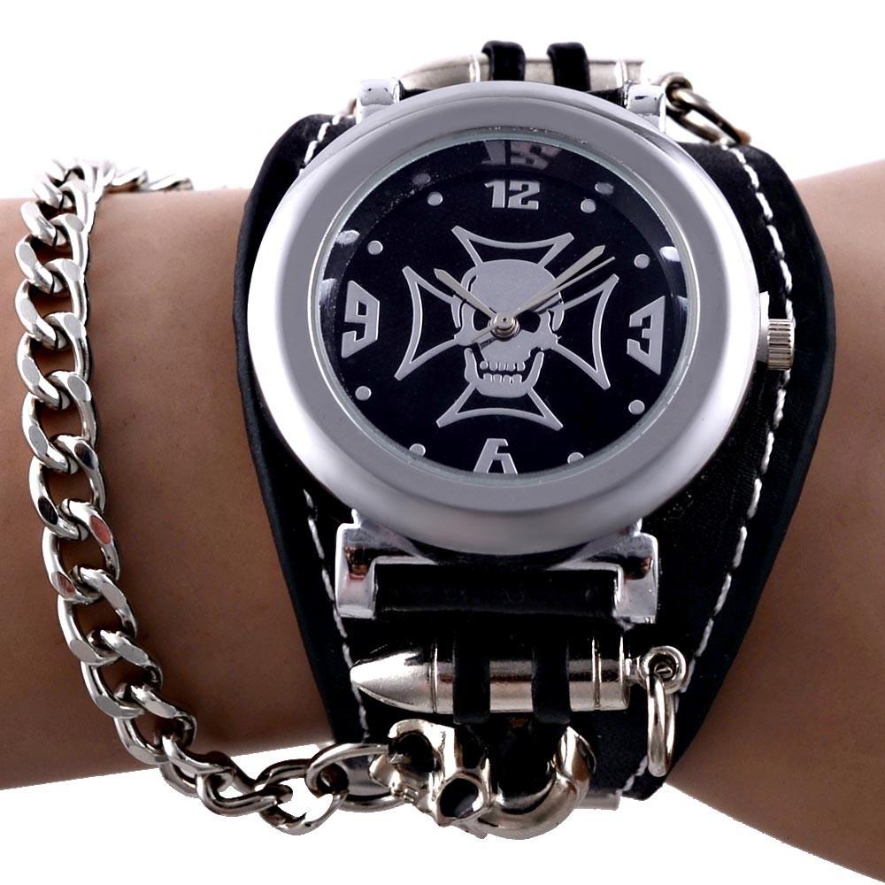 """Часы наручные """"Череп с Мальтийским Крестом"""" (с цепью)"""