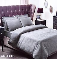 Постельное белье сатин-жаккард Евро Сolette серый Tac